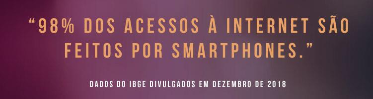 Acessos a internet via smartphones