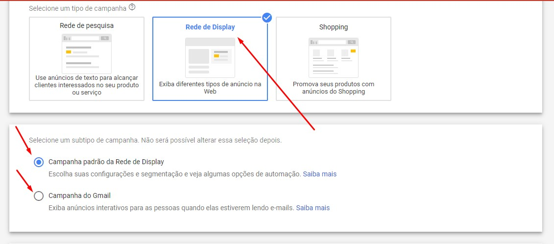 Anunciar na rede de display do Google
