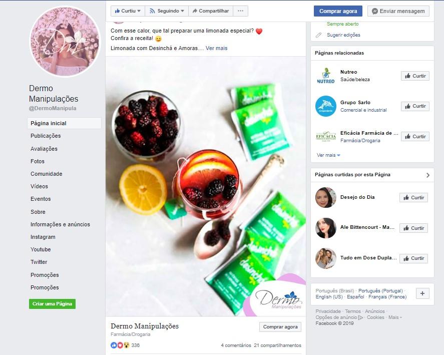 Gestão de Marketing – Dermo Manipulações