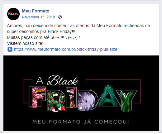 Black Friday: Meu Formato+