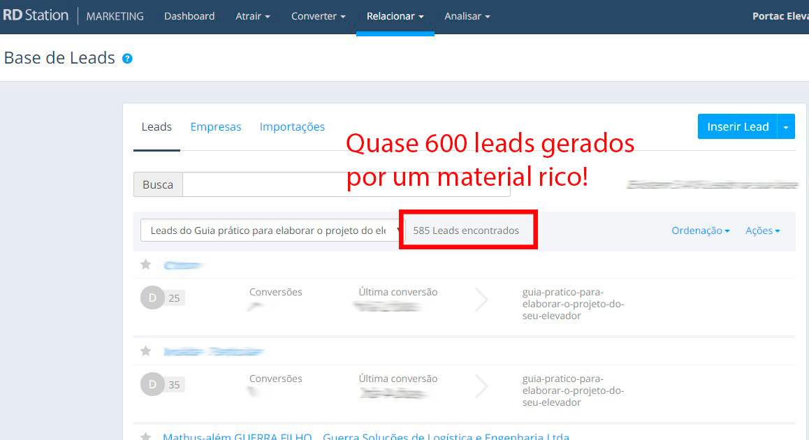 Inbound Marketing: Portac Elevadores