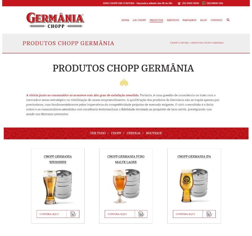 Site mobile first: Chopp Curitiba