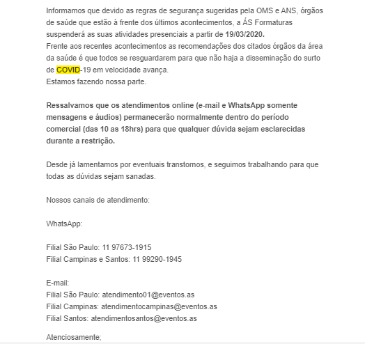 email exemplo 5