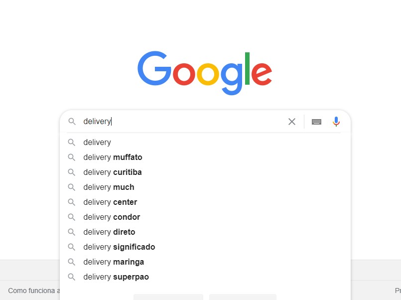 Busca do Google Suggest